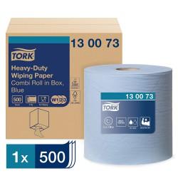 Tork Heavy-Duty 130073 Premium, papírová utěrka dvouvrstvá modrá, návin 170 m, W1,2,3