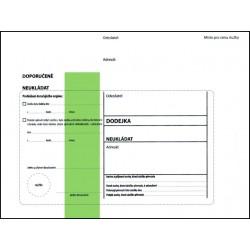 Dodejka s vytrhávacím okénkem C5, zkrácená, s krycí páskou, zelený pruh, doporučeně, úřední psaní