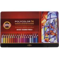 KOH-I-NOOR 3825, souprava uměleckých pastelek Polycolor, 36 barev v kovové kazetě