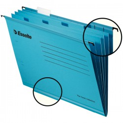Zesílené třídicí závěsné desky Esselte Pendaflex Collection, modrá, balení 10 ks