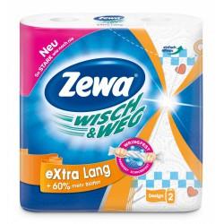 Zewa Wisch & Weg extra lang, 2 vrstvé kuchyňské utěrky nejvyšší kvality, balení 2 role