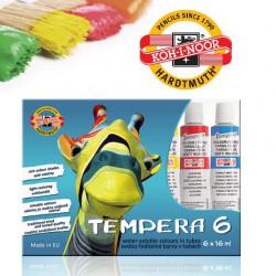 KOH-I-NOOR sada 6ks temperových barev, 6 barev