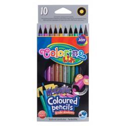Colorino pastelky kulaté metalické, 10 barev, super jemné