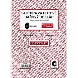Baloušek PT198, faktura za hotové - daňový doklad A5 samopropis