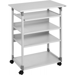 Durable 3720, multifunkční pojízdný stolek na PC, šedý