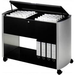 Durable 3080, Pojízdný stolek na závěsné desky Design Line 100 TOP