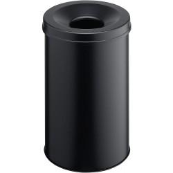Durable 3306, Samozhášecí odpadkový koš Safe kulatý, objem 30 litrů, černý