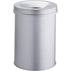 Durable 3306, Samozhášecí odpadkový koš Safe kulatý, objem 30 litrů, šedý