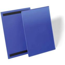 Durable 1744, magnetické pouzdro na dokumenty A4 na výšku, modré