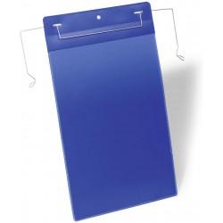 Durable 1753, závěsná kapsa s drátěným úchytem A4 na výšku, modrá
