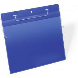 Durable 1754, závěsná kapsa s drátěným úchytem A4 na šířku. modrá