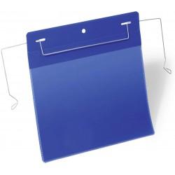 Durable 1752, závěsná kapsa s drátěným úchytem A5 na šířku, modrá