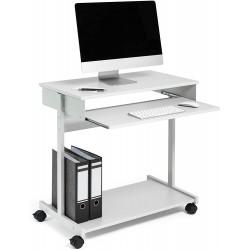 Durable 3197, PC Workstation, multifunkční stolek na PC s kolečky, šedá