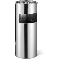 Durable 3373, nerezový odpadkový koš s kulatým popelníkem, výška 63 cm