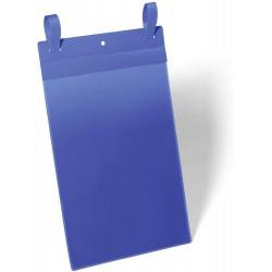 Durable 1750, závěsná kapsa s upínacími popruhy A4 na výšku, modrá