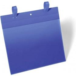 Durable 1751, závěsná kapsa s upínacími popruhy A4 na šířku, modrá