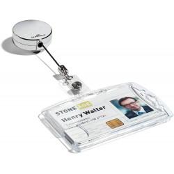DURABLE 8225, Chromový rolosystém s drukem - navíječ pro karty, délka až 80 cm