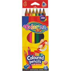 Colorino pastelky trojhranné JUMBO, s ořezávátkem, 6 barev