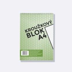 BOBO kroužkový blok horní vazba A4 čtverečkovaný, 50 listů