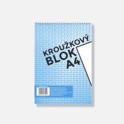 BOBO kroužkový blok horní vazba A4 čistý, 50 listů