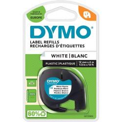 Dymo LetraTag páska plastová 12mm x 4m, bílá, S0721660