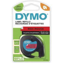 Dymo LetraTag páska plastová 12mm x 4m, červená, S0721630