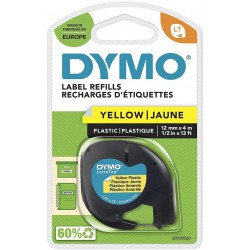 Dymo LetraTag páska plastová 12mm x 4m, žlutá, S0721620