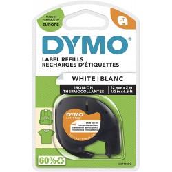 Dymo LetraTag páska nažehlovací 12mm x 2m, bílá, S0718850