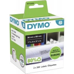 DYMO LW Adresní štítky 36x89 mm, 2 role x 260 štítků, S0722400