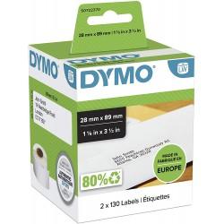 DYMO LW Adresní štítky 28x89 mm, 2 role x 130 štítků, S0722370