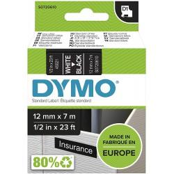 DYMO polyester páska D1 12mm x 7m, bílá na černé, S0720610