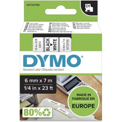 DYMO polyester páska D1 6mm x 7m, černá na bílé, S0720780