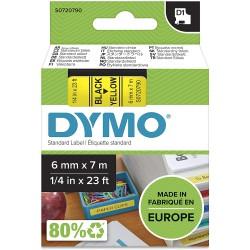 DYMO polyester páska D1 6mm x 7m, černá na žluté, S0720790