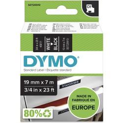 DYMO polyester páska D1 19mm x 7m, bílá na černé, S0720910