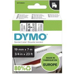 DYMO polyester páska D1 19mm x 7m, černá na průhledné, S0720820
