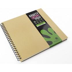 Artgecko Krafty Sketchbook 150g, skicák A4 čtvercový 300x300 mm, 80 stran