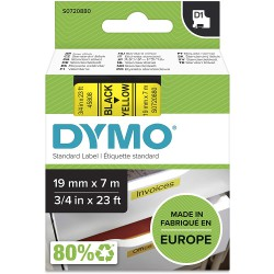 DYMO polyester páska D1 19mm x 7m, černá na žluté, S0720880