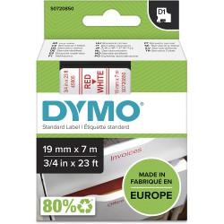 DYMO polyester páska D1 19mm x 7m, červená na bílé, S0720850