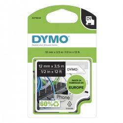 Dymo páska D1 ohebný nylon 12mm x 3,5m, černá na bílé, S0718040