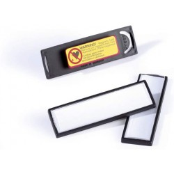 DURABLE 8132, jmenovka Clipcard s magnetem 17x67 mm, černá