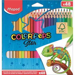 Maped trojhranné pastelky Color Peps Star, 48 ks