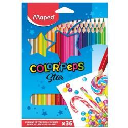 Maped trojhranné pastelky Color Peps Star, 36 ks