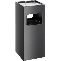 Durable 3331, odpadkový koš kovový čtvercový s popelníkem
