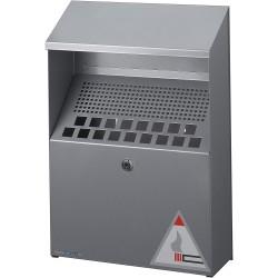 DURABLE 3334, nástěnný kovový popelník stříbrný