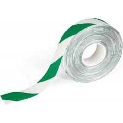 Durable 1726, značkovací podlahová páska samolepící zeleno bílá, 50mm x 30m
