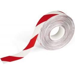 Durable 1726, značkovací podlahová páska samolepící červeno bílá, 50mm x 30m