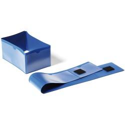 Durable 1724, plastová kapsa na dokumenty pro označení palet, modrá
