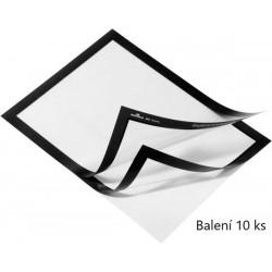 Durable 4882, samolepící kapsa DURAFRAME s magnetickým rámečkem A4, balení 10 ks, černá
