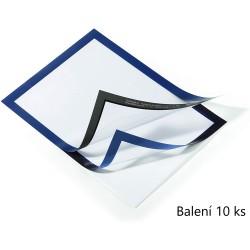 Durable 4882, samolepící kapsa DURAFRAME s magnetickým rámečkem A4, balení 10 ks, modrá