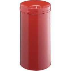 Durable 3327, odpadkový samozhášecí koš Safe +, kulatý, objem 60l, červená